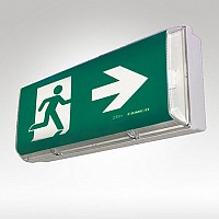 Fluorescent Exit Signs