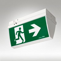 Utility Ceiling Mounted Double Sided LED Exit or Runningman