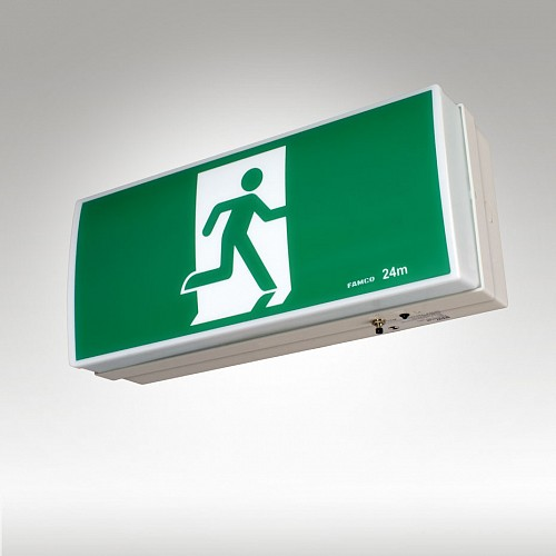 Utility Surface Mounted Single Sided LED Exit or Runningman